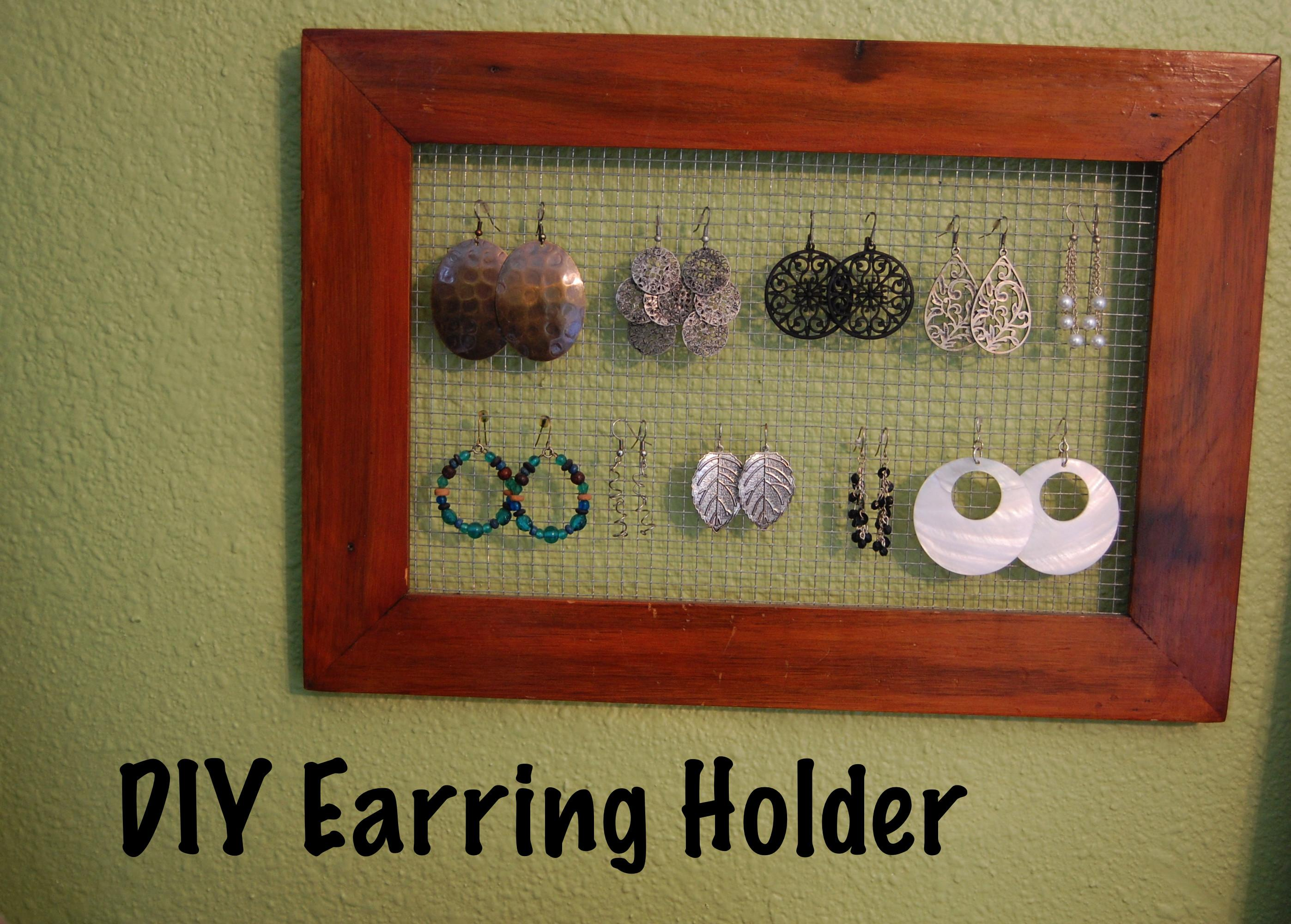 Diy Earring Holder Project Aholic