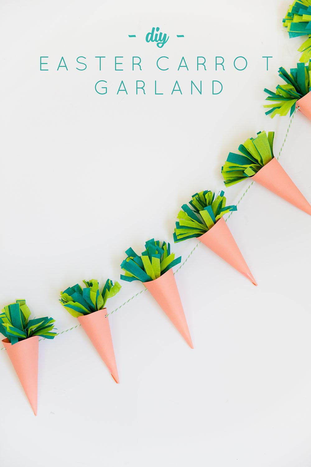 Diy Easter Carrot Garland Tell Love Party