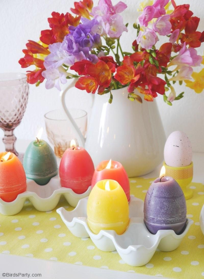 Diy Easter Egg Candles Party Ideas Printables