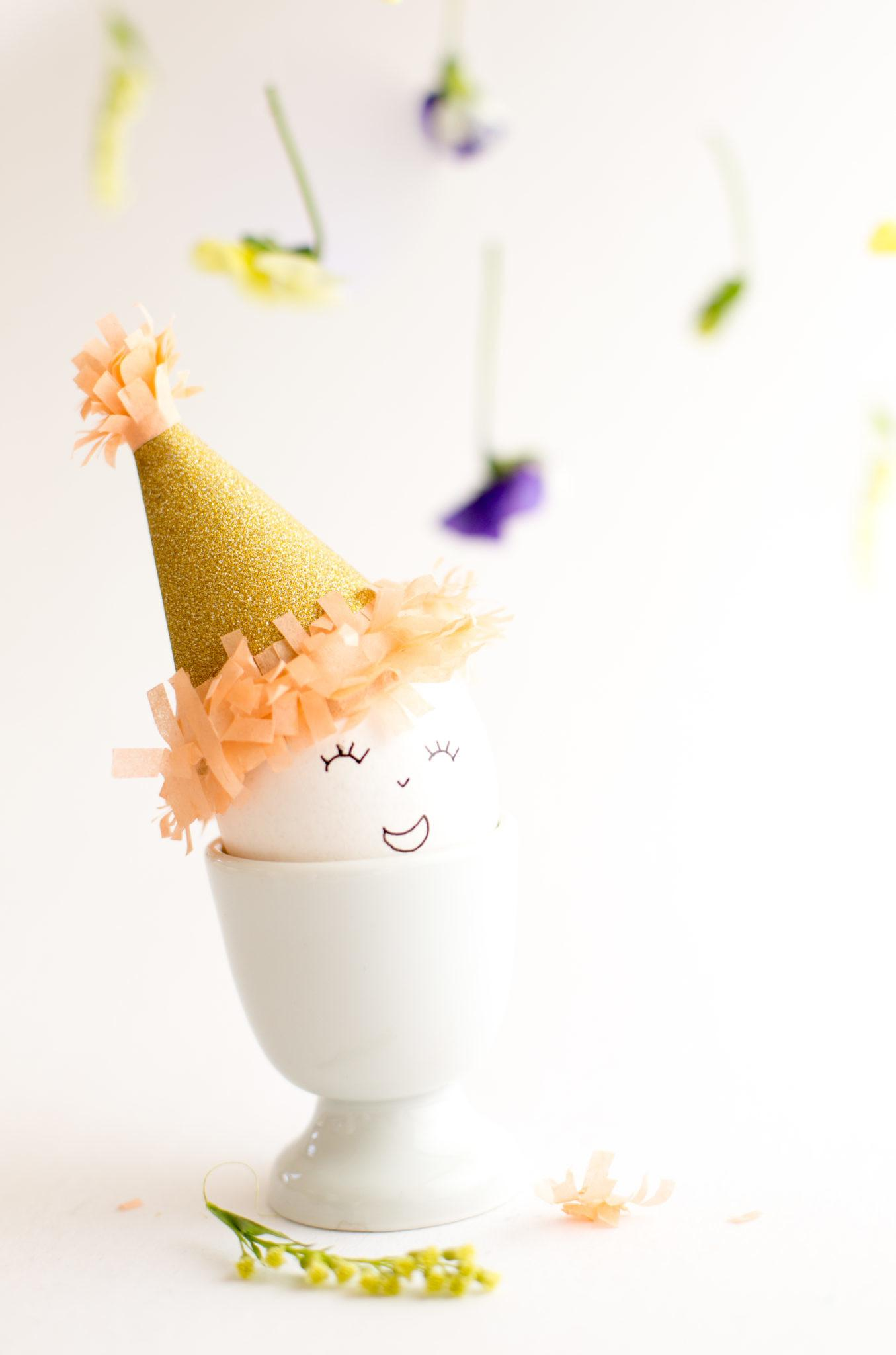 Diy Easter Eggs Party Hats Flax Twine