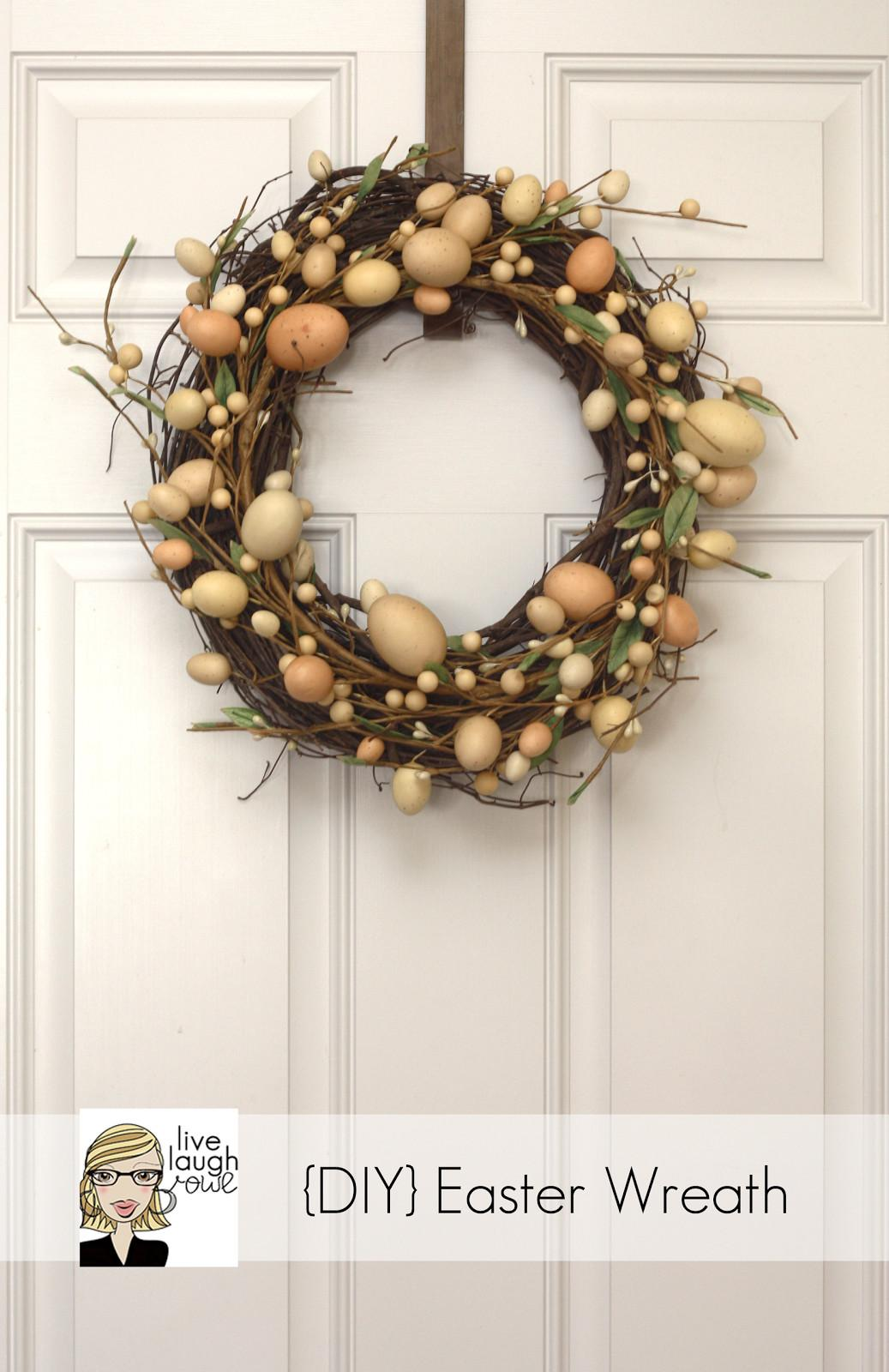 Diy Easter Wreath Livelaughrowe