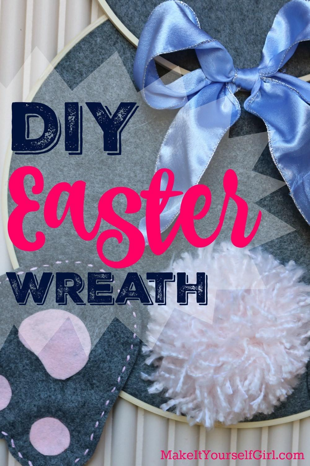 Diy Easter Wreath Make Bunny Butt Yourself Girl