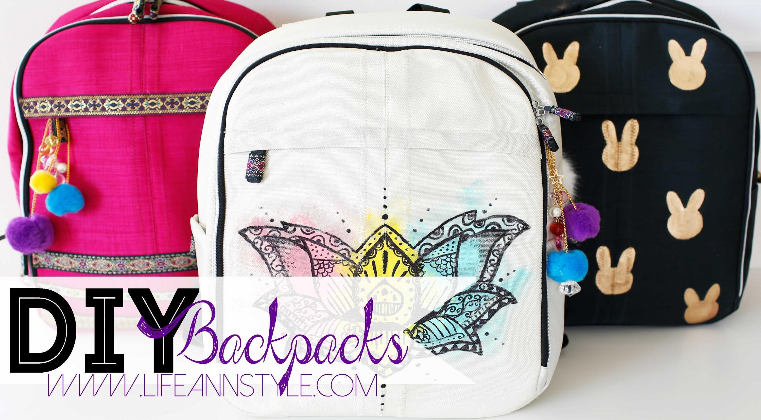 Diy Easy Backpack Makeover Paint Markers Ann