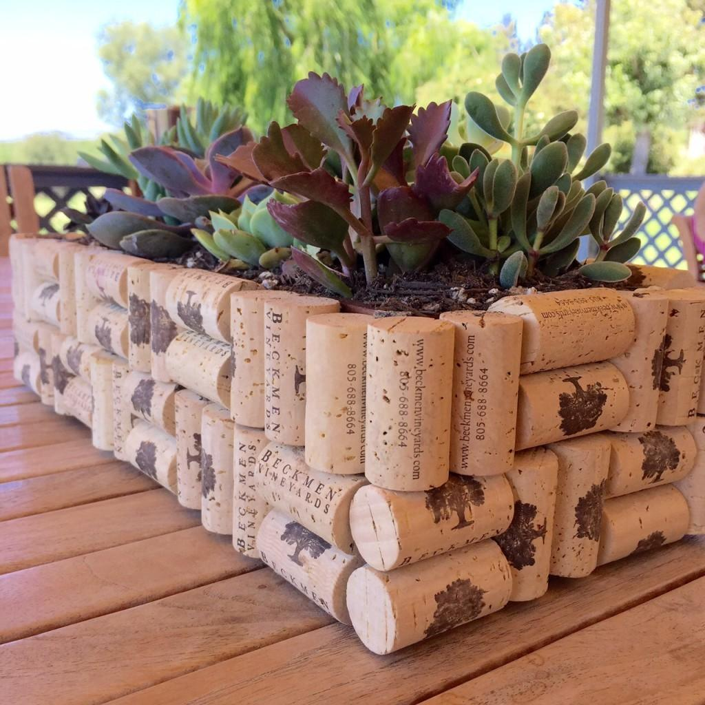 Diy Easy Cork Planter Box Beckmen Vineyards Blog