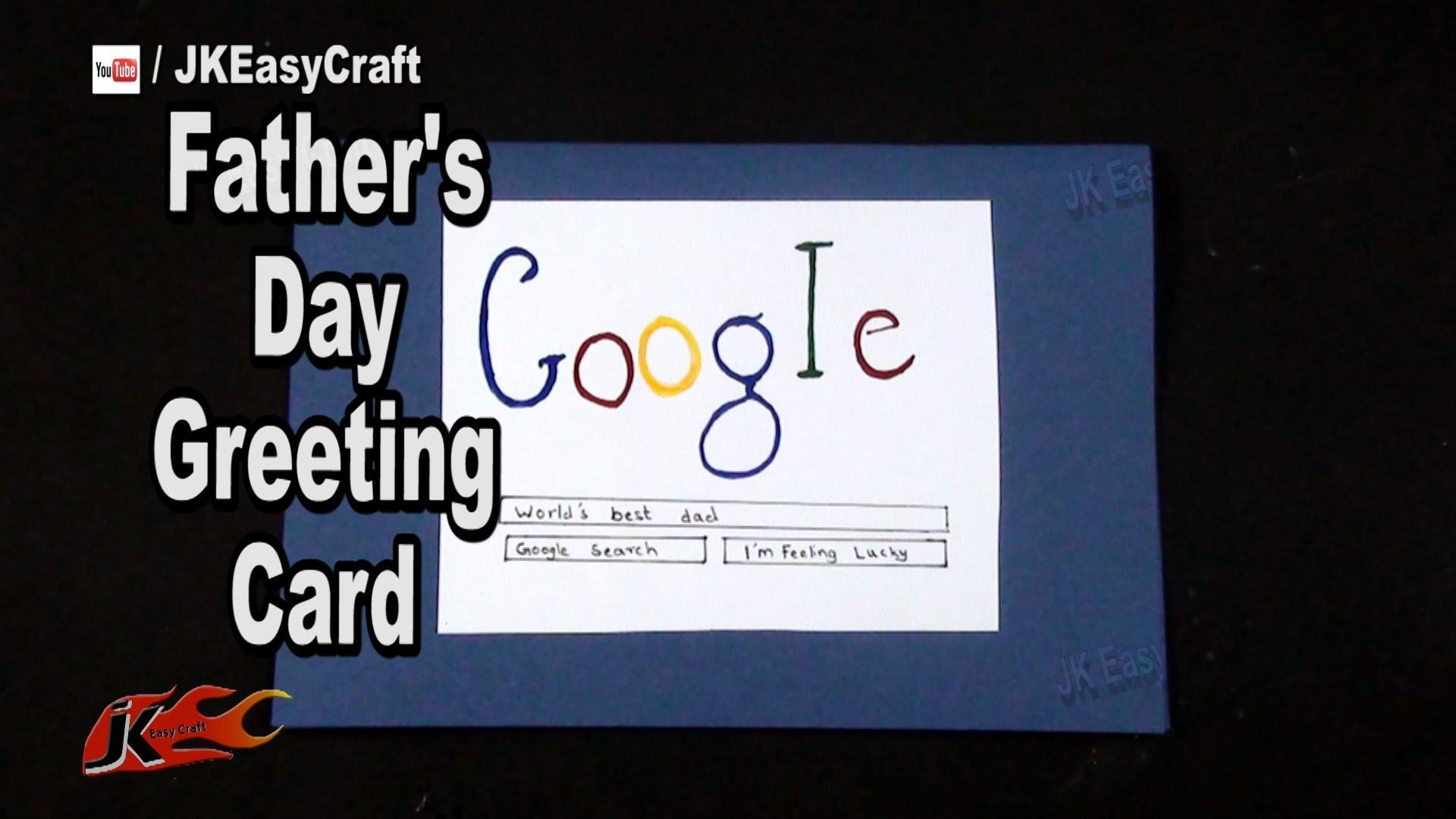 Diy Easy Father Day Search Card Make
