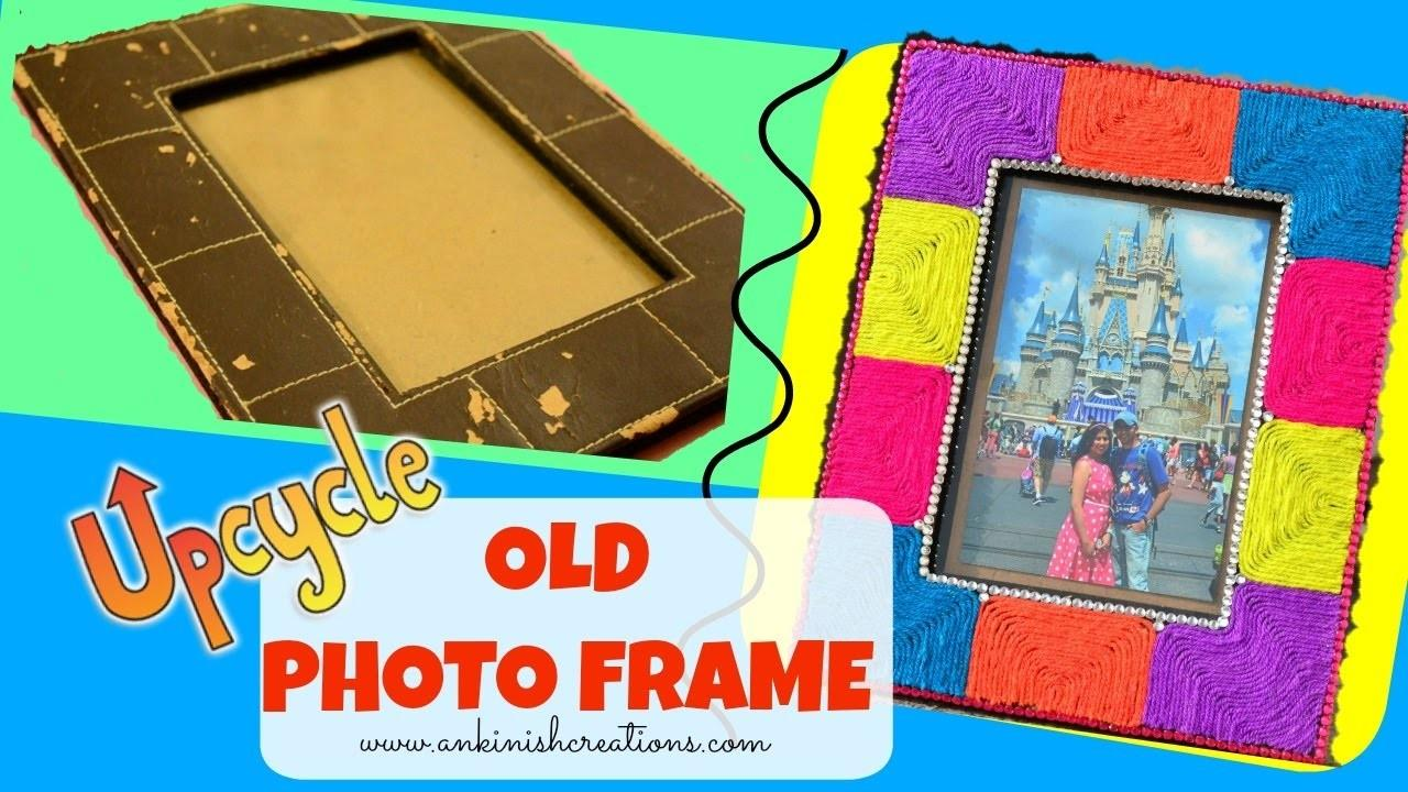 Diy Easy Frame Decoration Idea Using Yarn Upcycle
