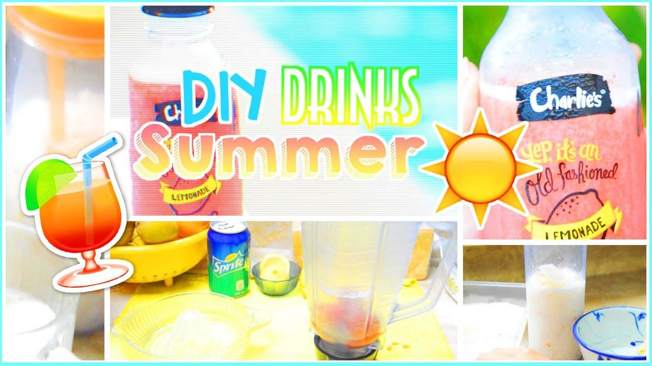 Diy Easy Healthy Summer Drinks Beverages Alohakatiex