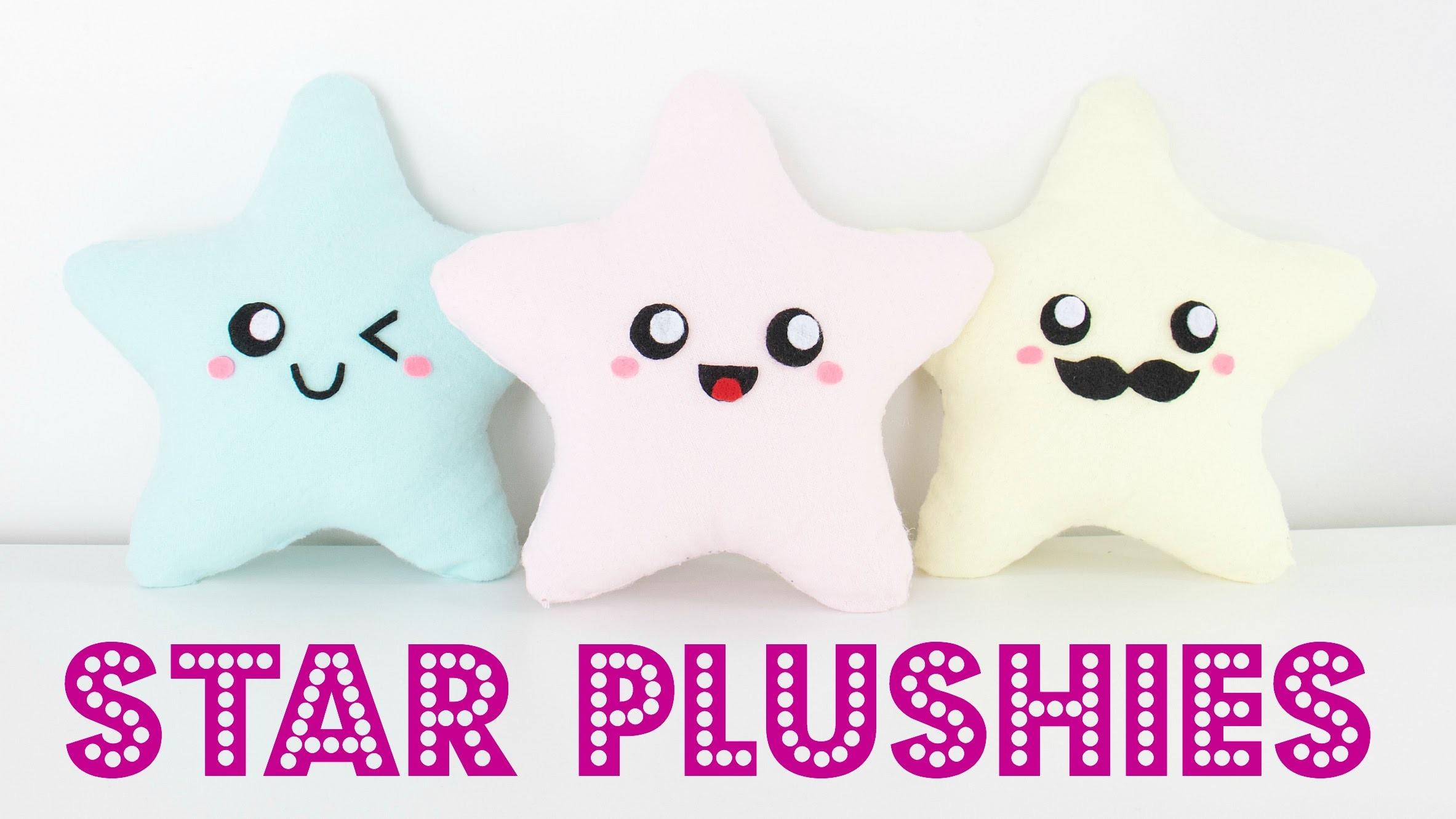 Diy Easy Kawaii Star Plush Pillows Room Decor