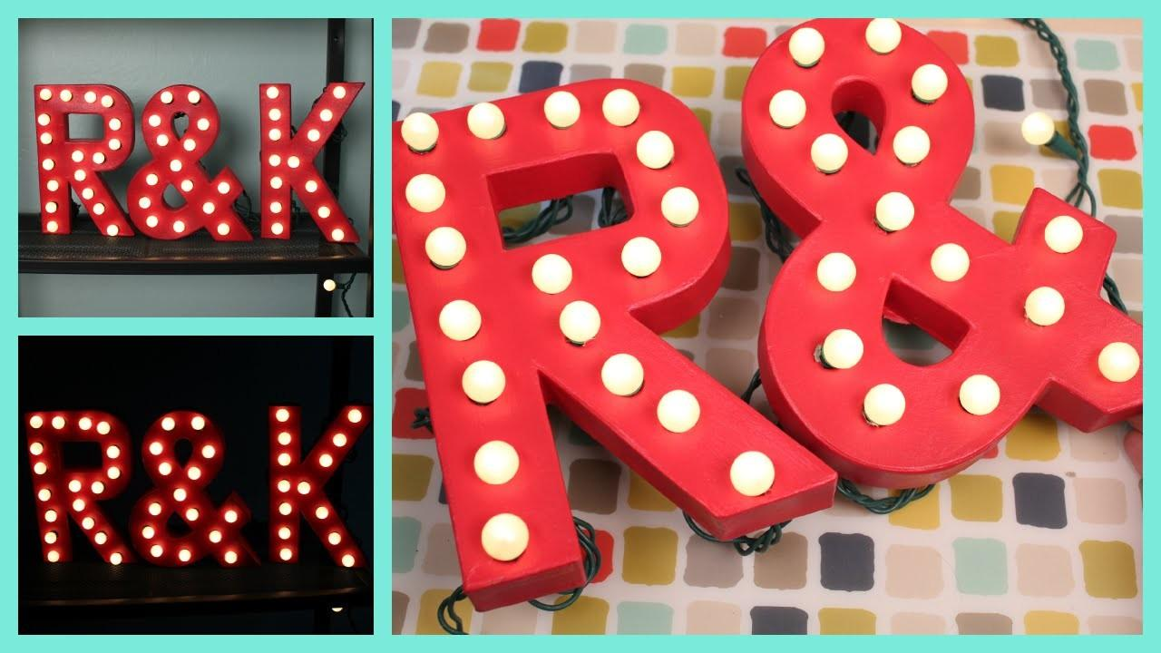 Diy Easy Marquee Letter Lights Tutorial Godening