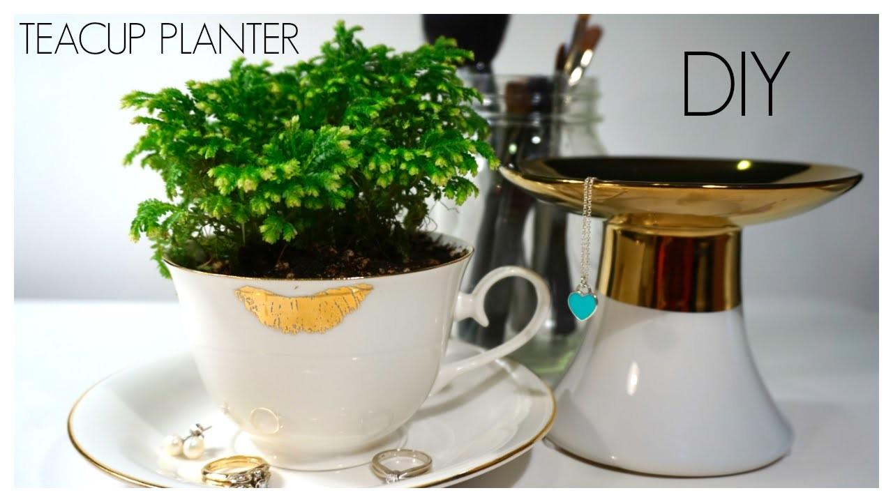 Diy Easy Minute Teacup Planter
