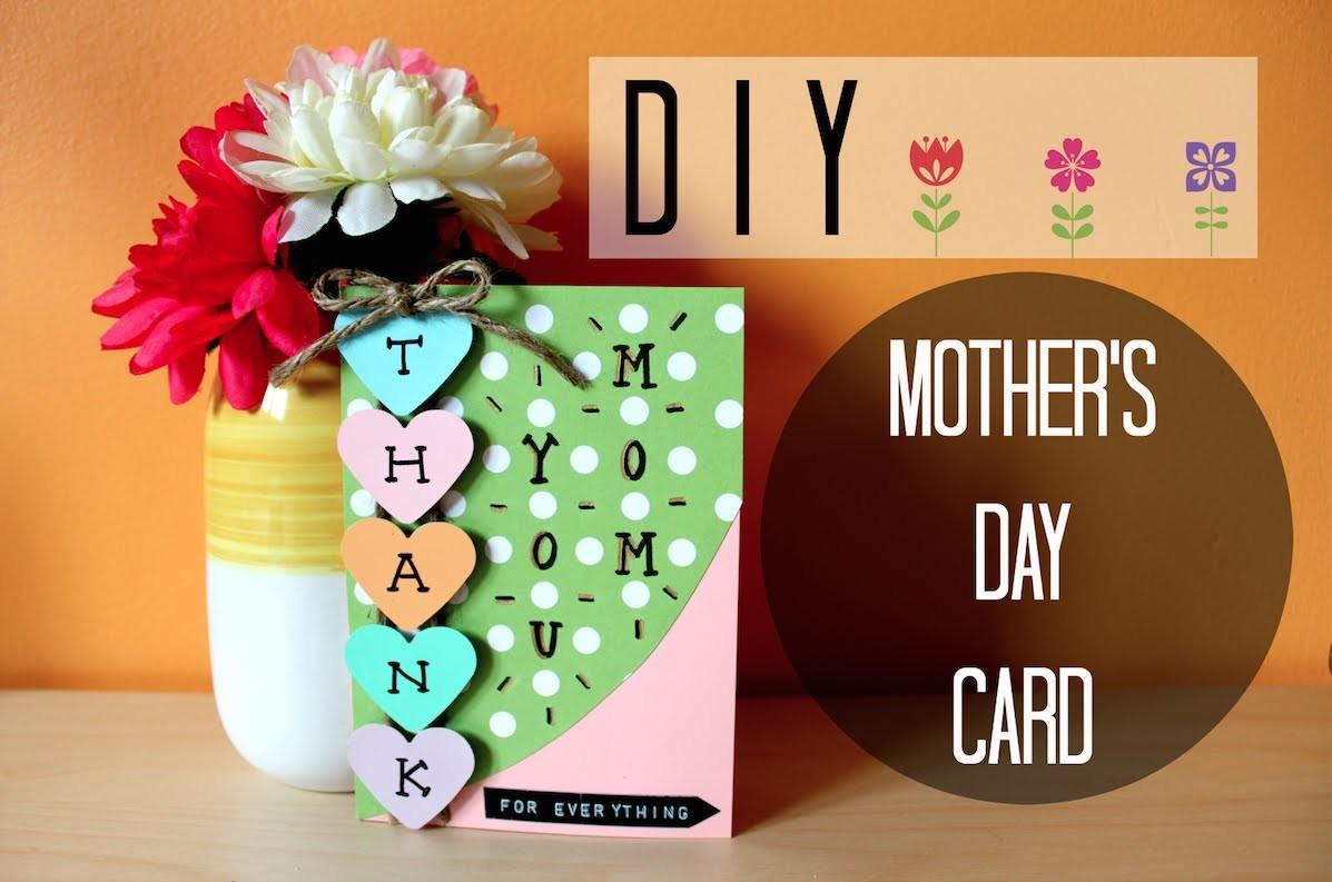 Diy Easy Mother Day Card Simple Cute