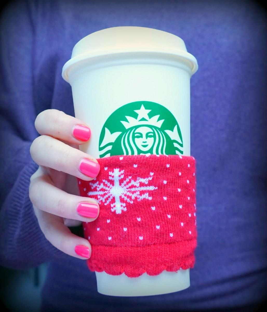 Diy Easy Mug Cozy Upcycle Your Christmas Socks