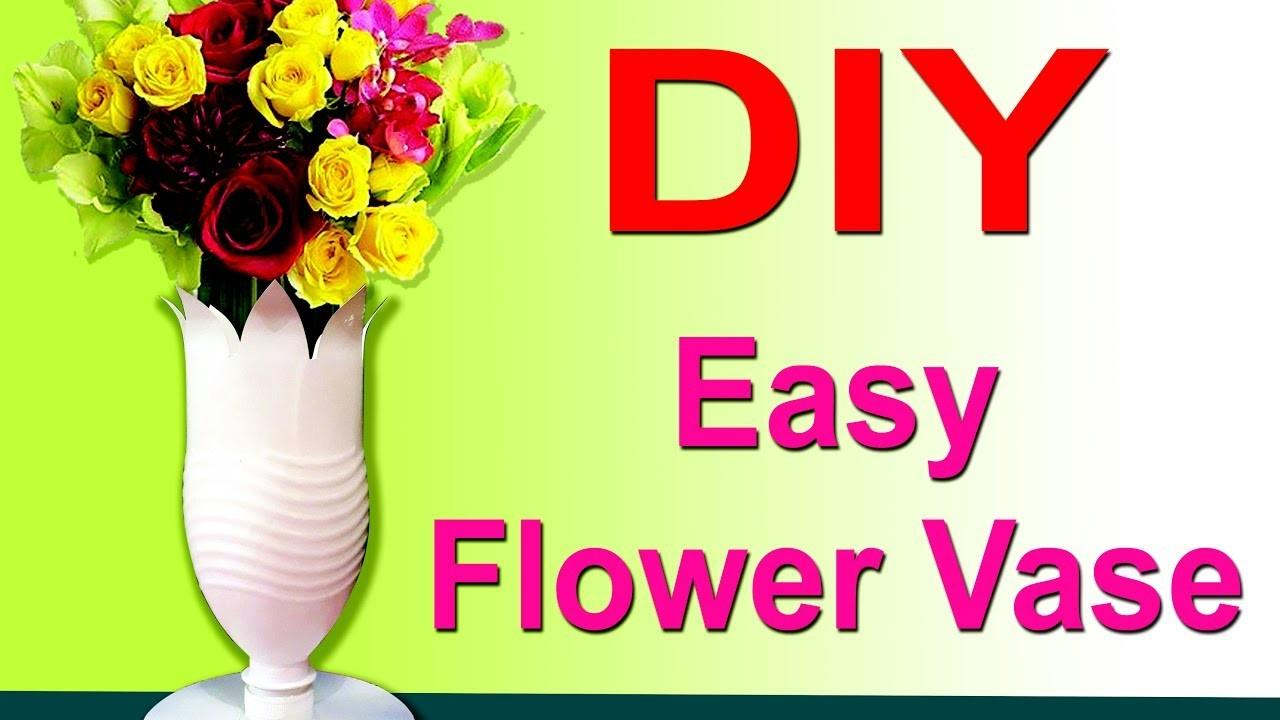 Diy Easy Plastic Bottle Flower Vases Decorate Your Home