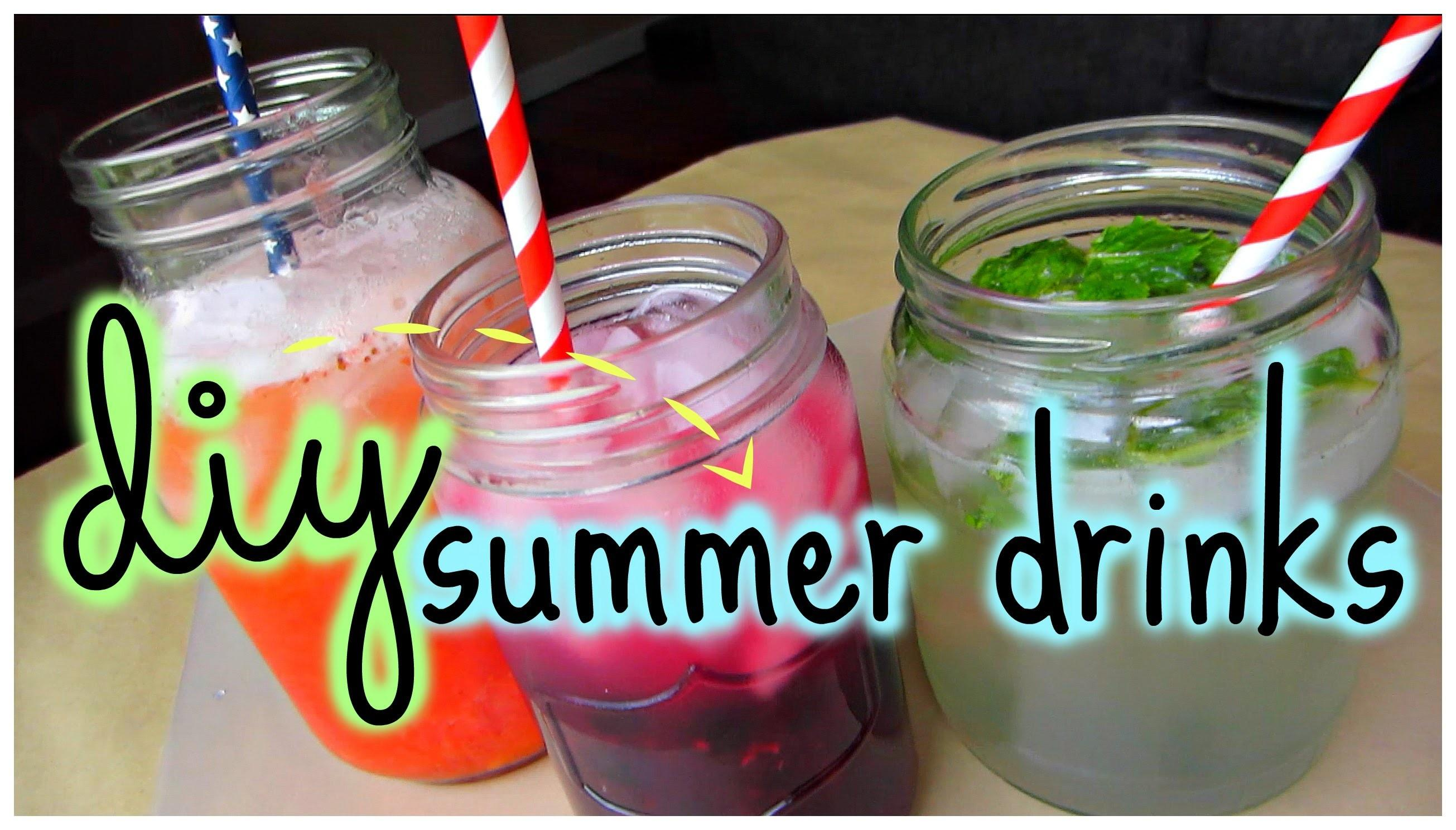 Diy Easy Refreshing Summer Drinks