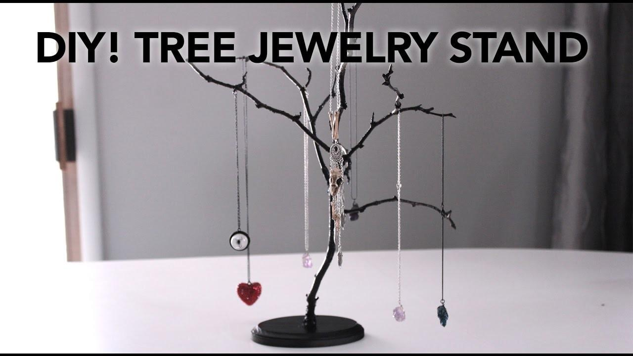 Diy Easy Tree Jewelry Stands Under Minutes