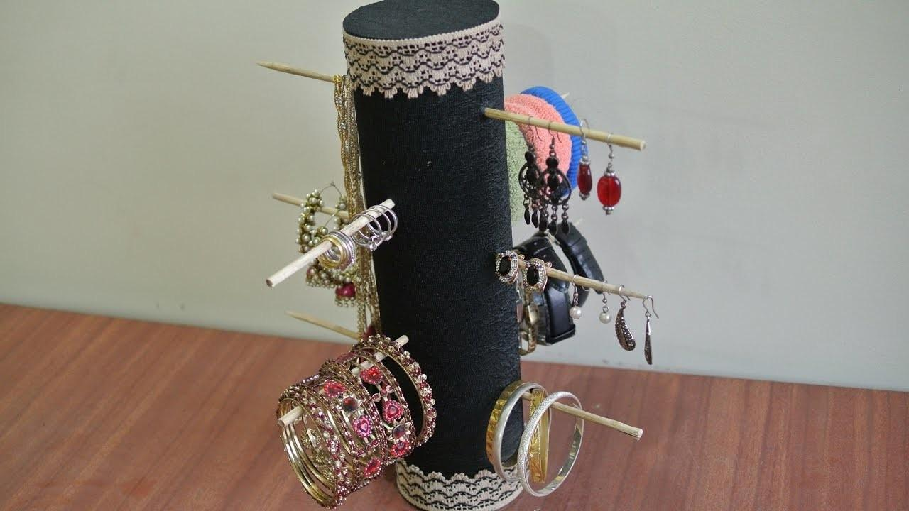 Diy Eco Friendly Best Out Waste Jewelry Organizer