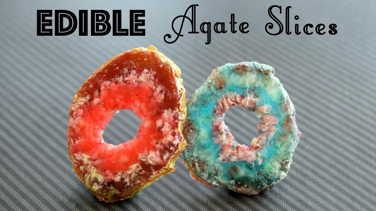 Diy Edible Agate Slices Candy Rocks Crystals