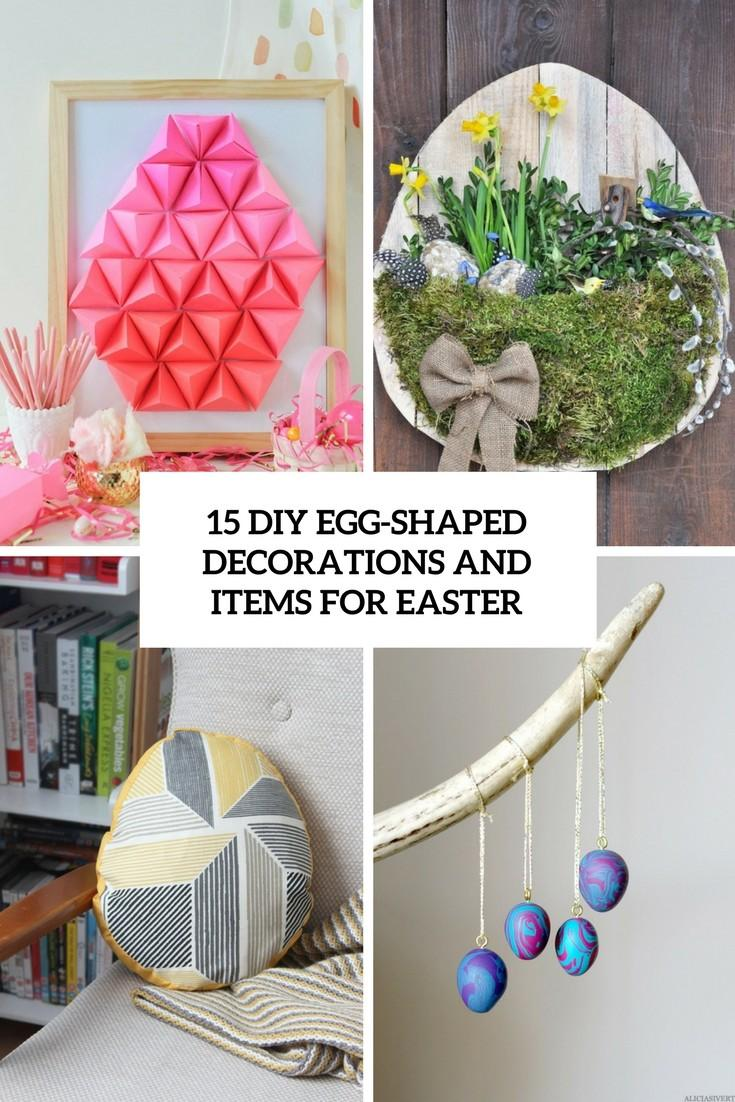 Diy Egg Shaped Decorations Items Easter