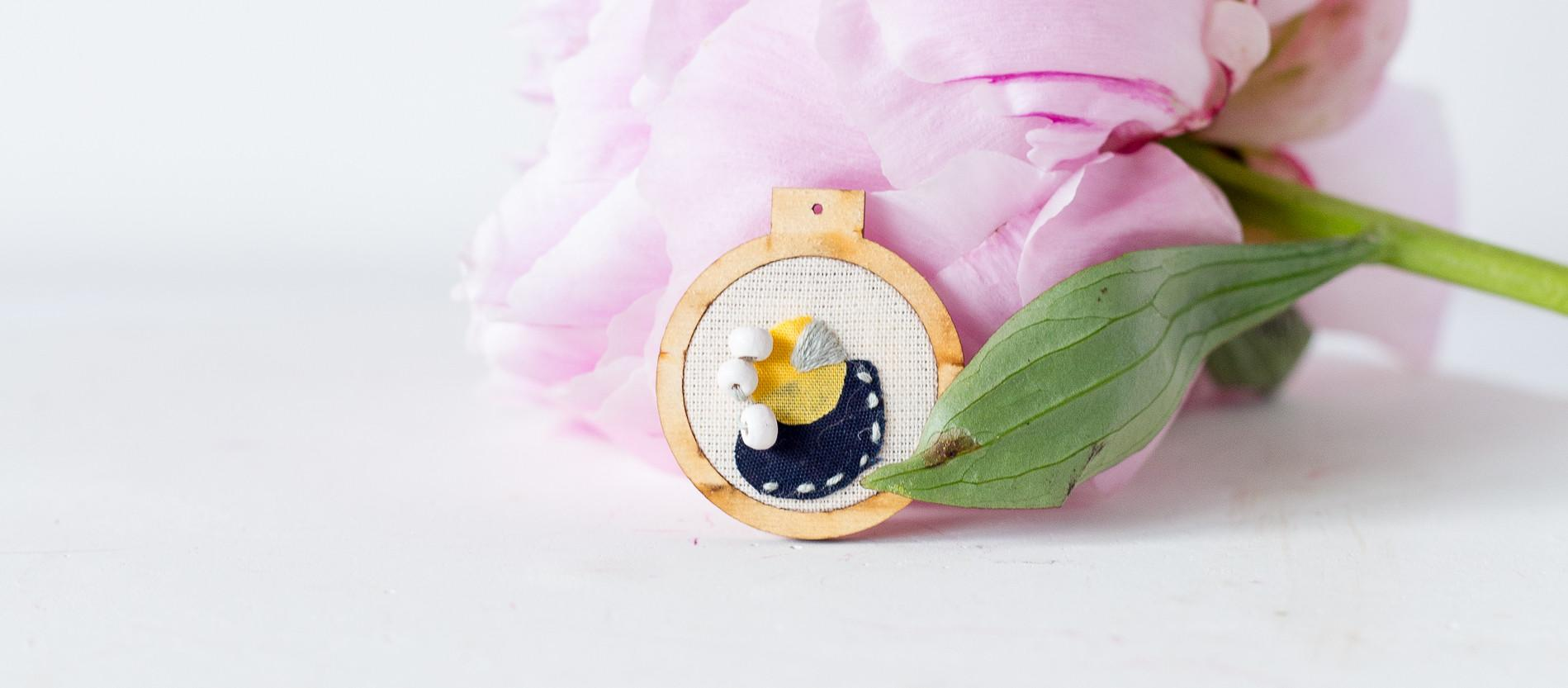 Diy Embroidered Geometric Necklace Make Collective