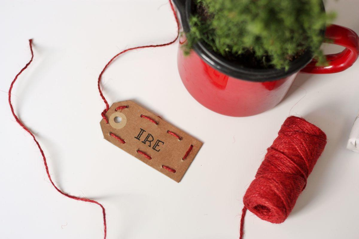 Diy Embroidered Gift Tag