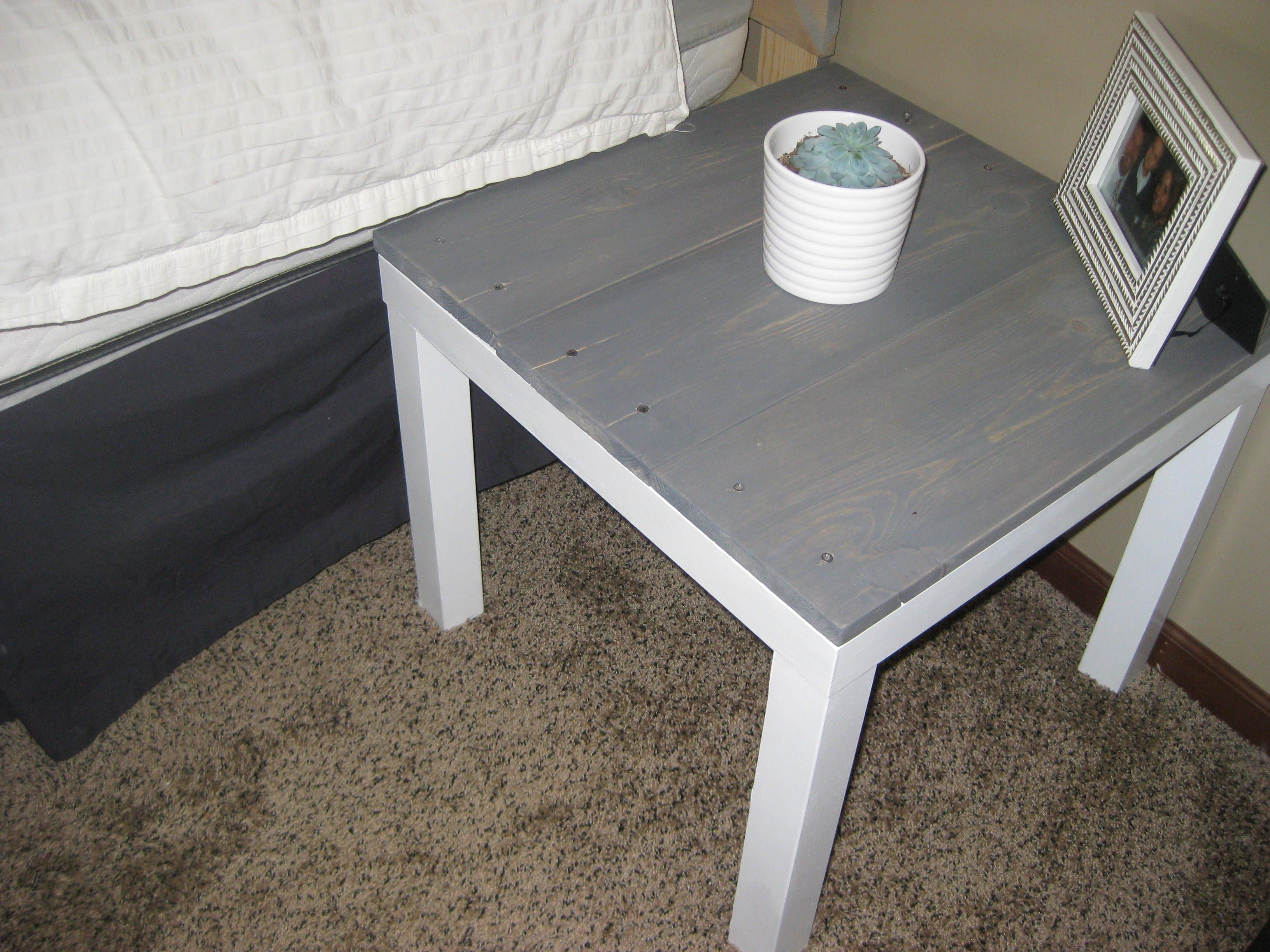 Diy End Table Hack Under