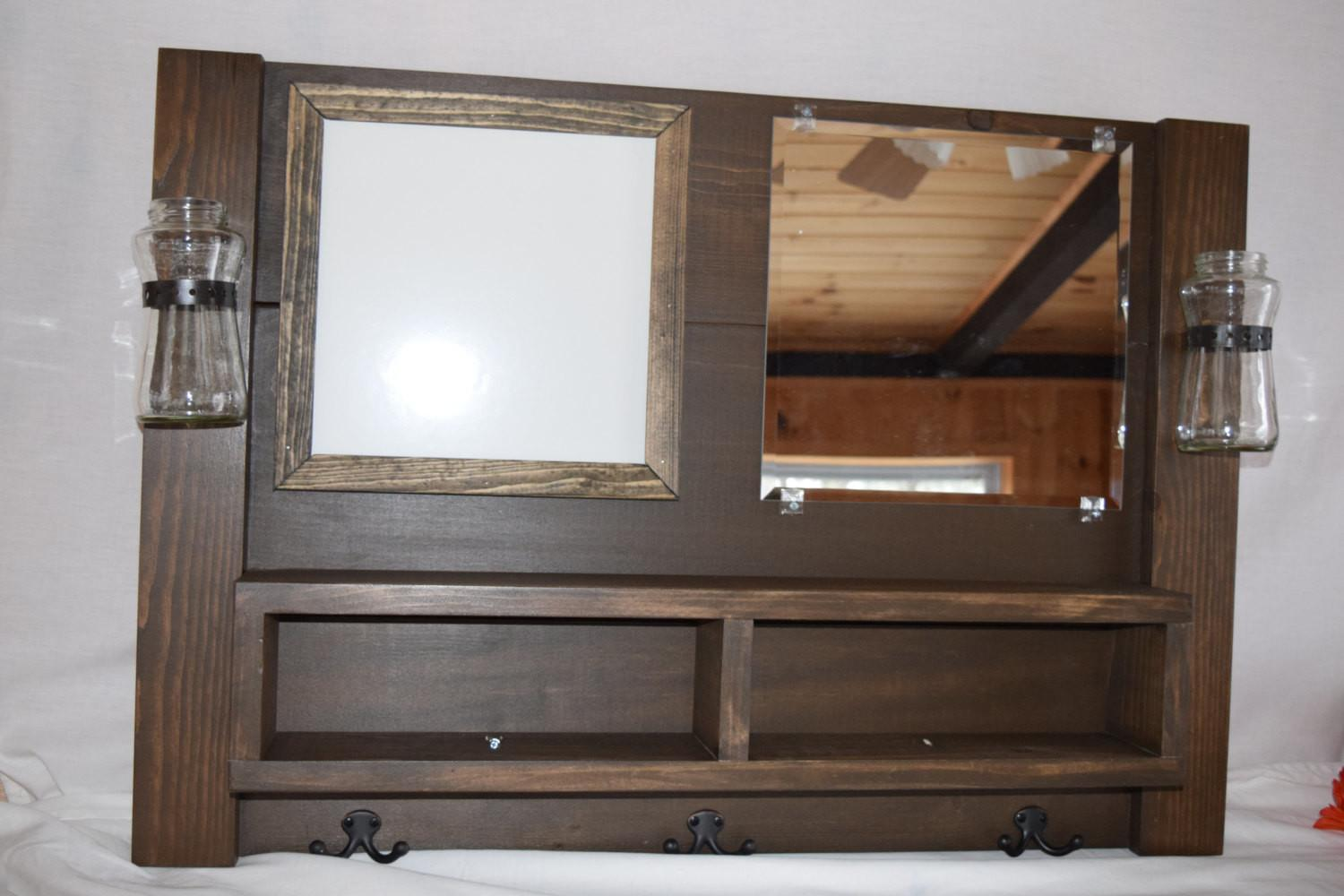 Diy Entryway Mirror Hooks Shelf Stabbedinback