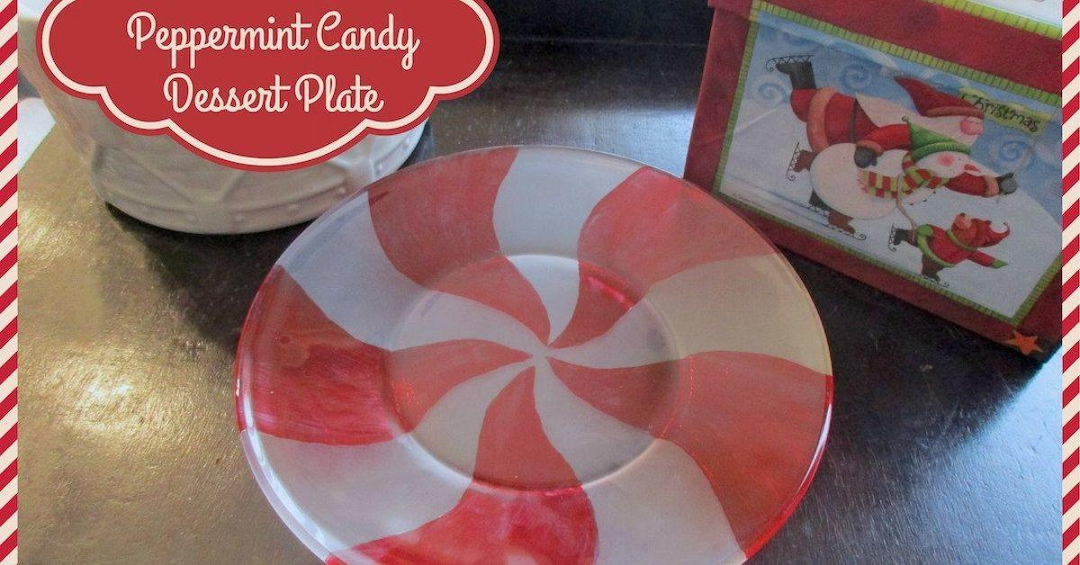 Diy Etched Glass Peppermint Candy Dessert Plates
