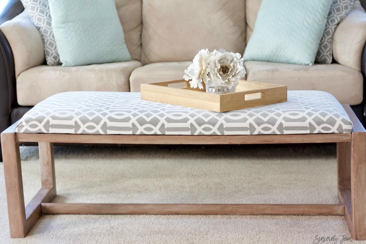 Diy Fabric Covered Coffee Table Makeover Sincerely Jean