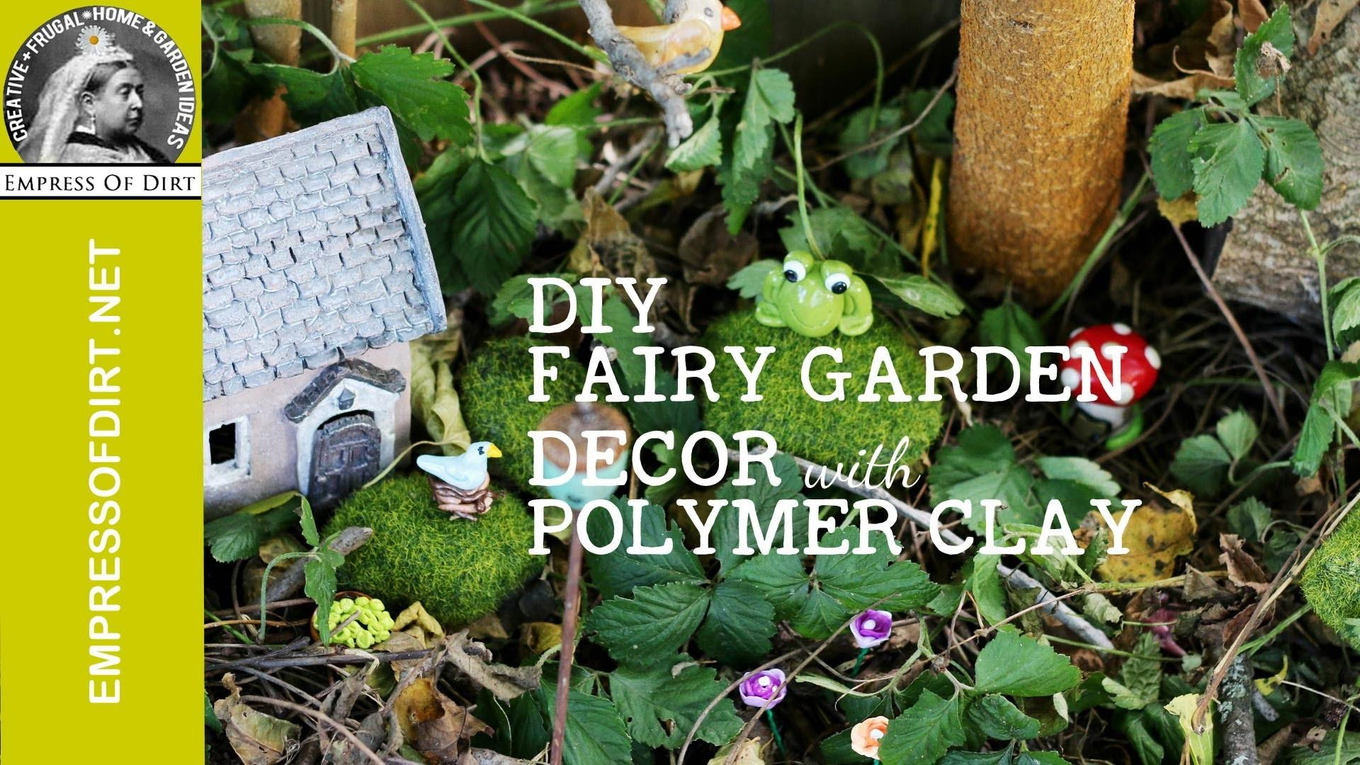 Diy Fairy Garden Decor Polymer Clay