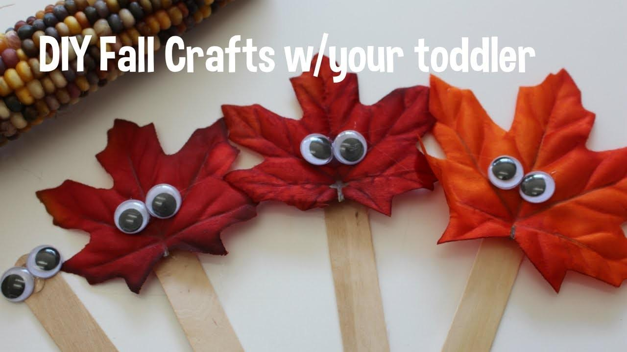 Diy Fall Crafts Toddler Friendly