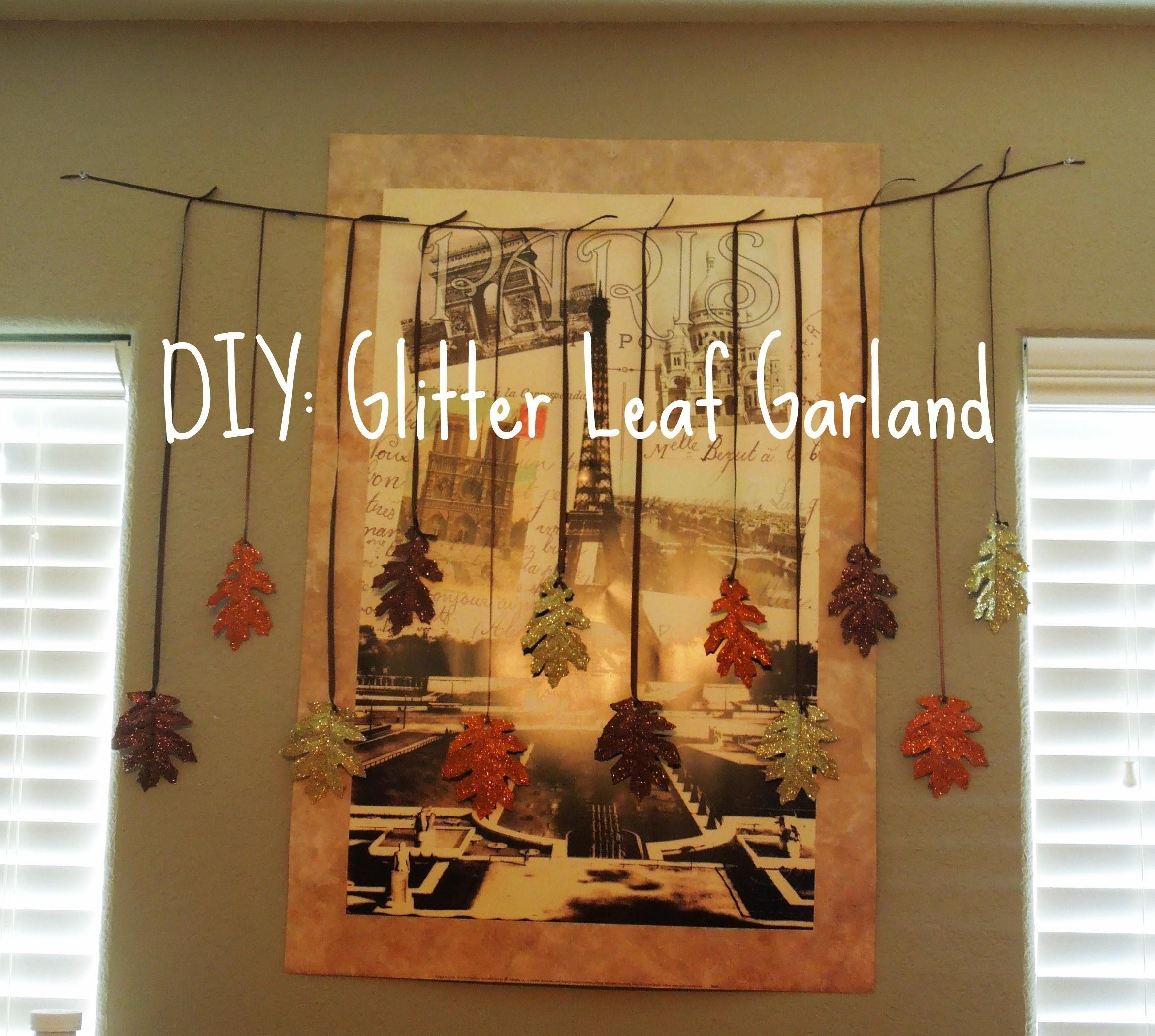 Diy Fall Decor Glitter Leaf Garland