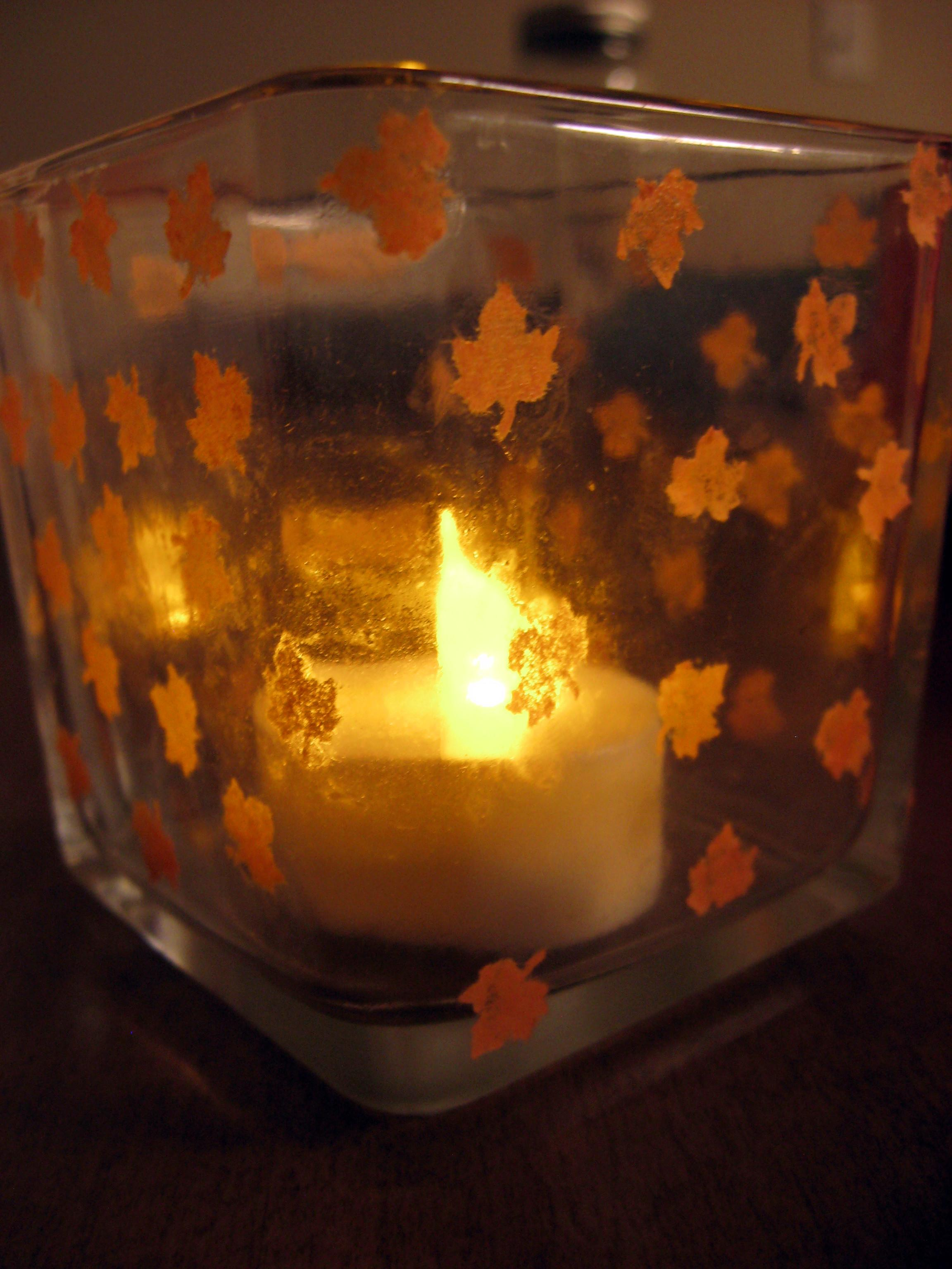 Diy Fall Inspired Votive Holder Make Something Mondays