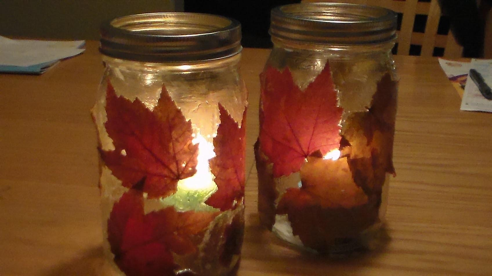 Diy Fall Lantern Autumn Candle Jar Holder