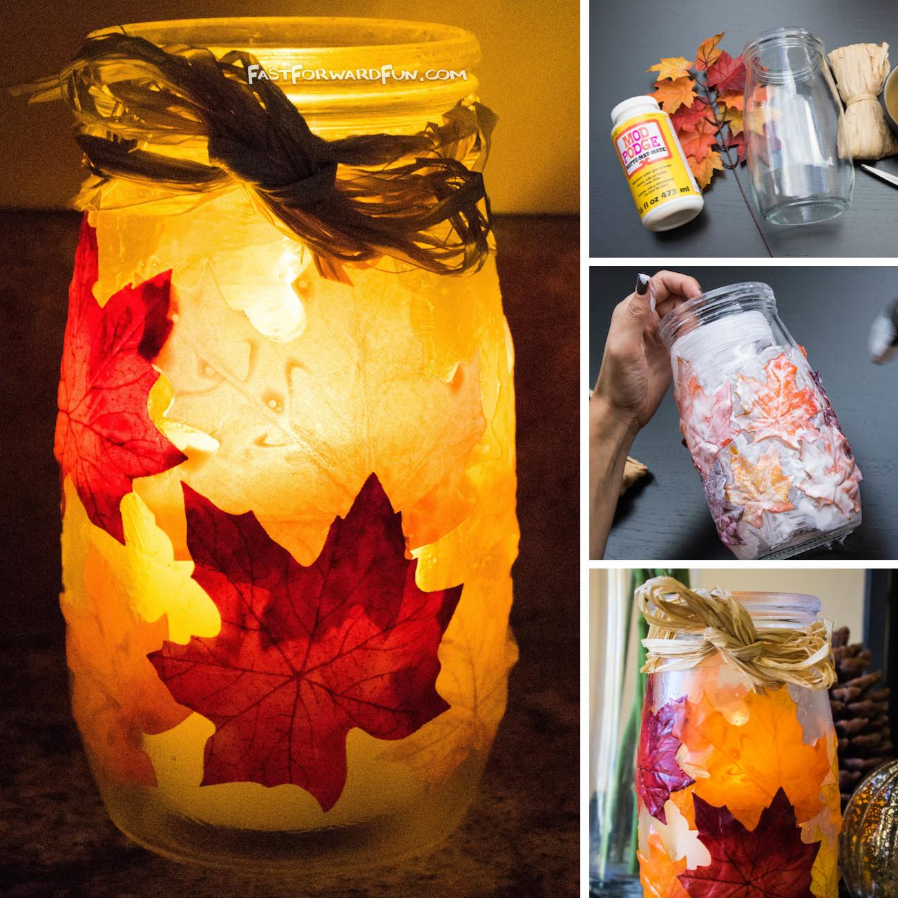 Diy Fall Leaf Candle Holder Video Tutorial Lots Pics