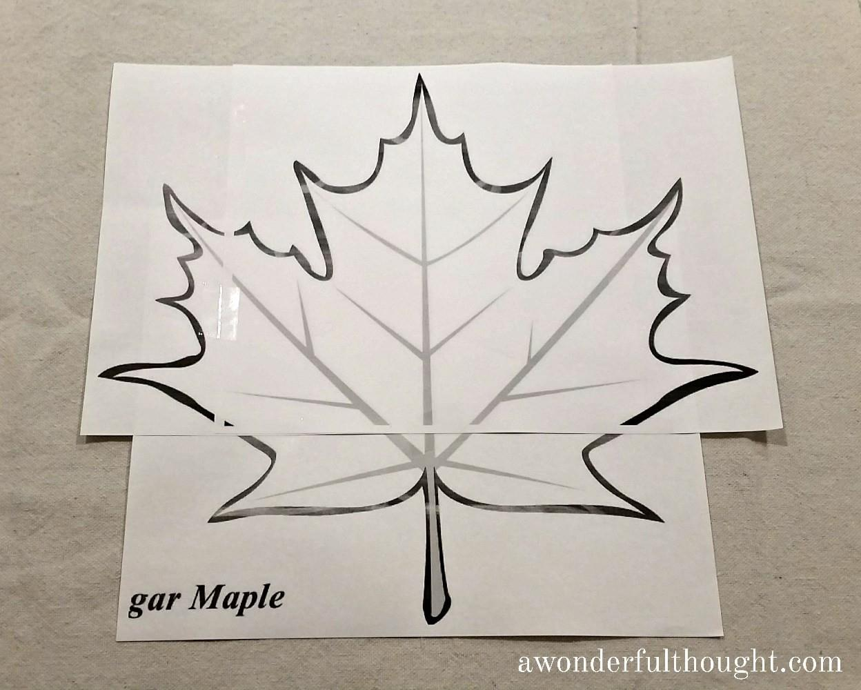 Diy Fall Leaf Pillow Wonderful Thought