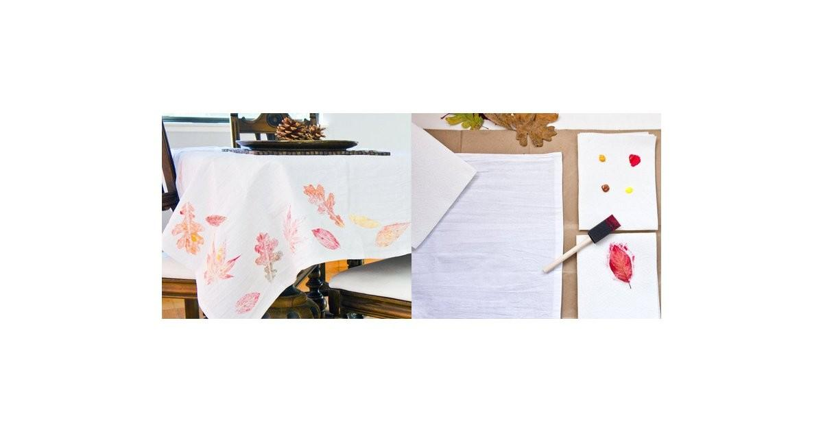 Diy Fall Leaf Tablecloth Popsugar Smart Living