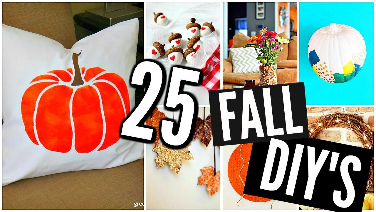 Diy Fall Room Decor Projects Crafts 2016 2017
