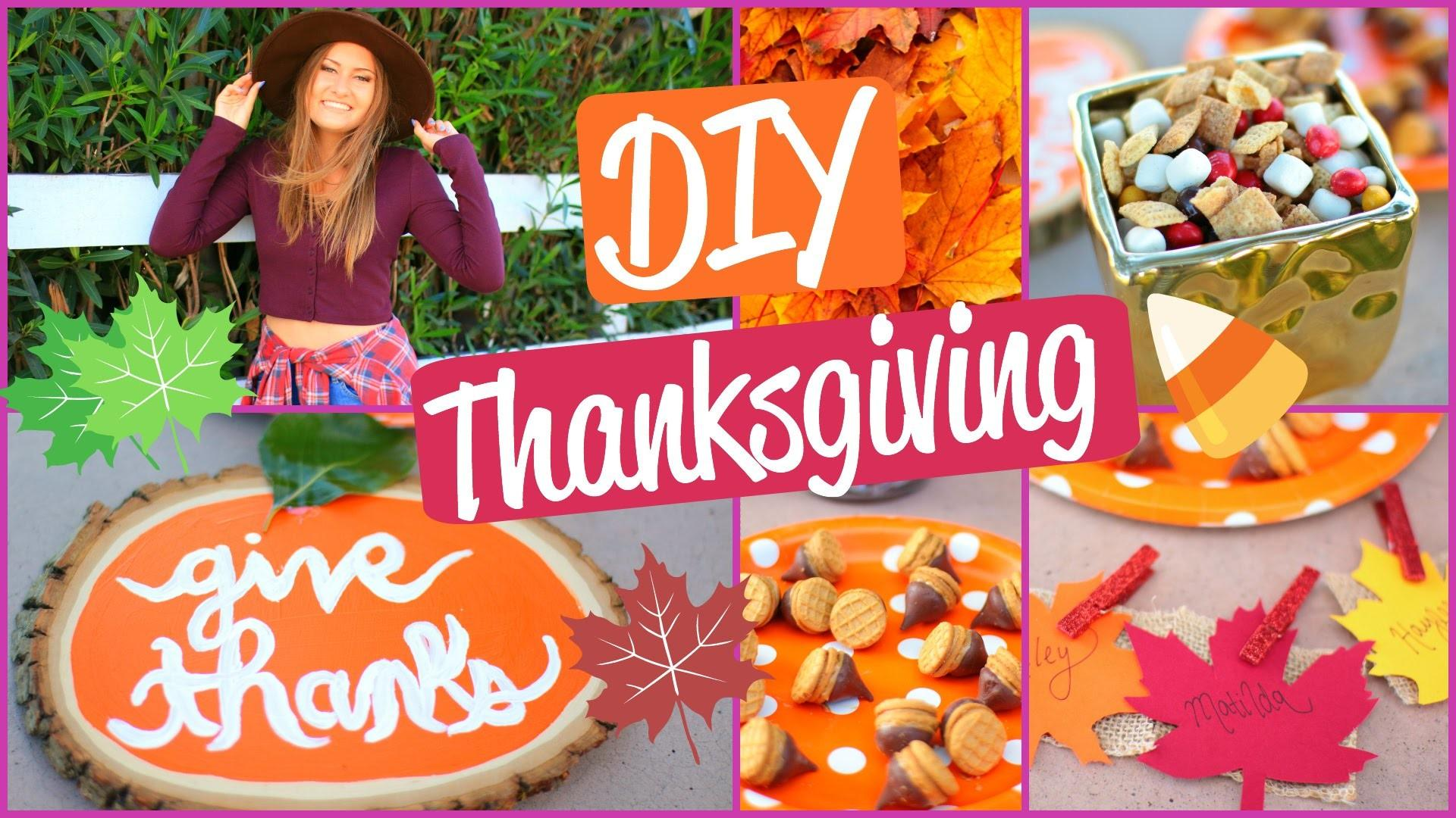 Diy Fall Thanksgiving Treats Decorations Outfits
