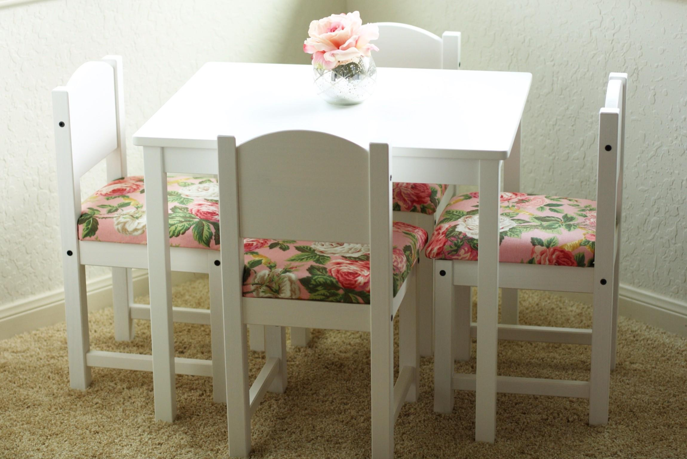 Diy Fancied Kids Table Chairs Hack Fancy Ashley