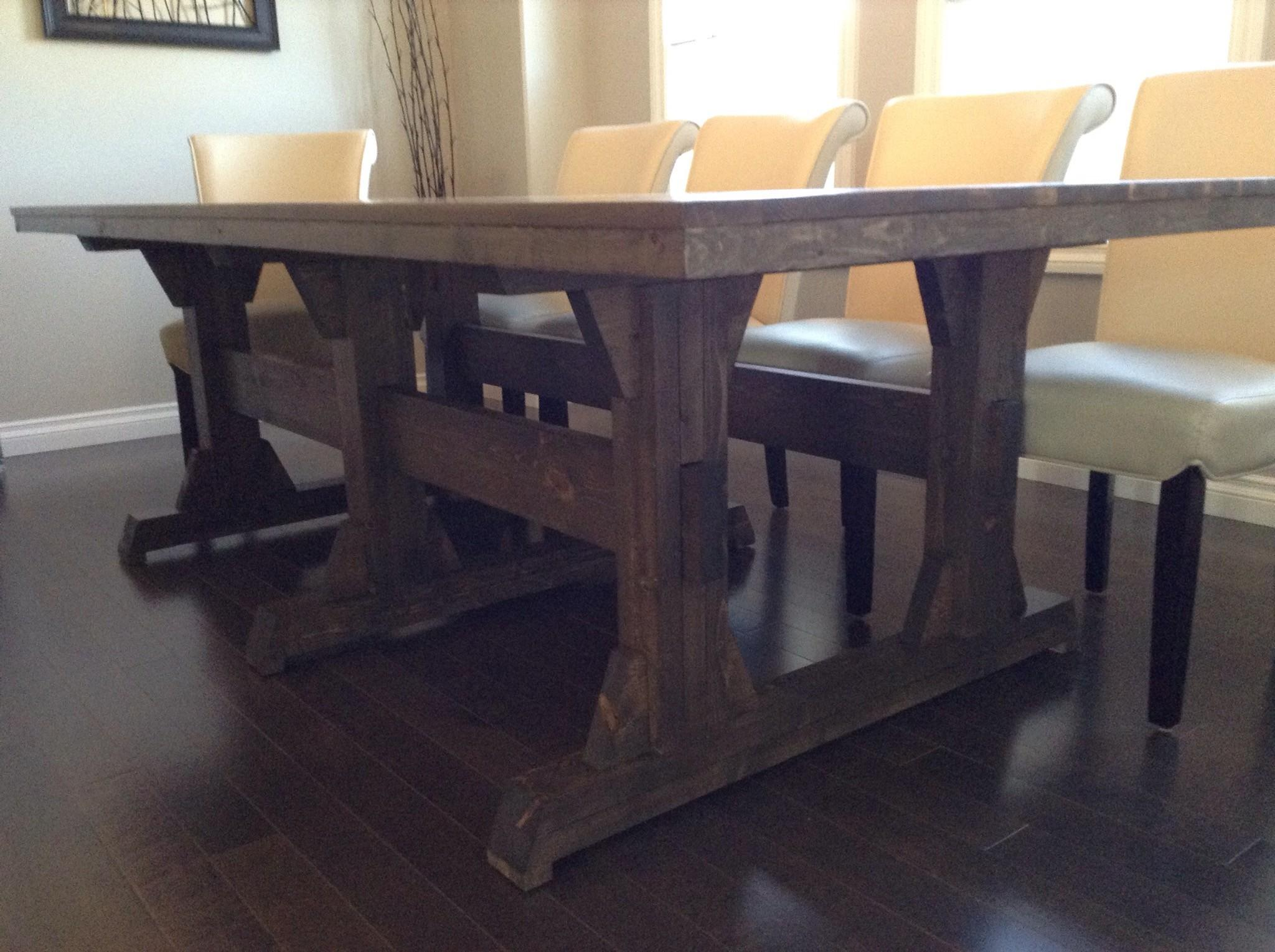 Diy Farmhouse Dining Room Table 200 Cad Leave Joy