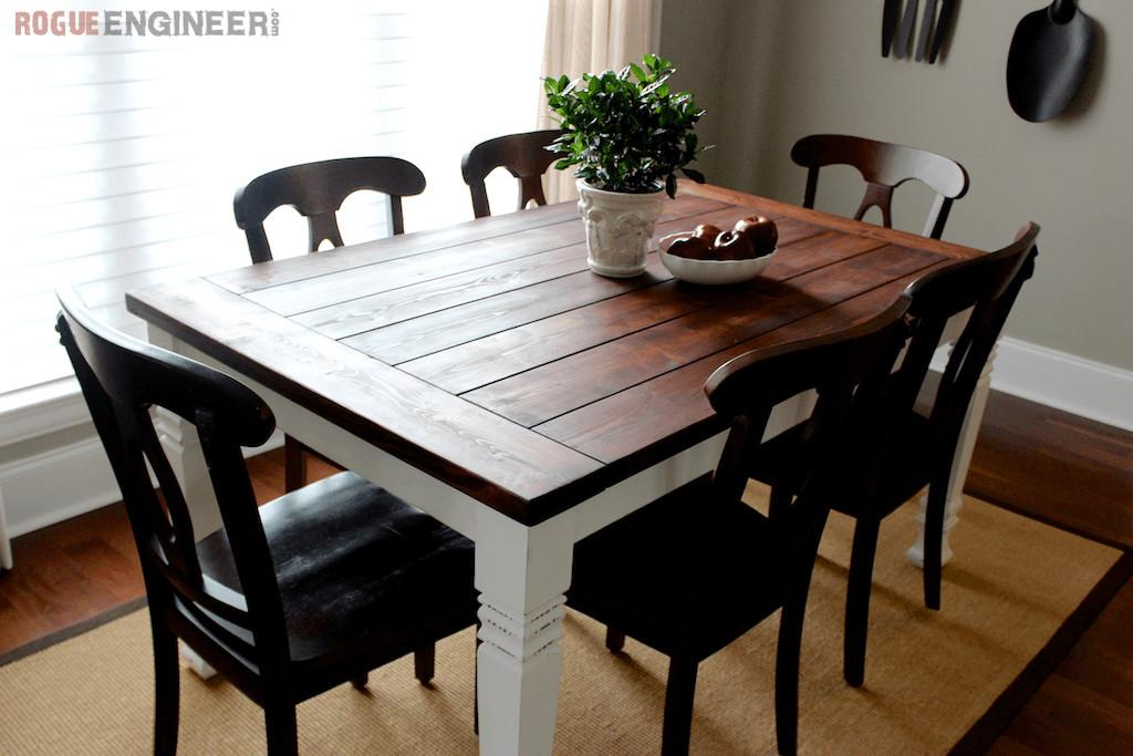 Diy Farmhouse Table Plans Rogue Engineer