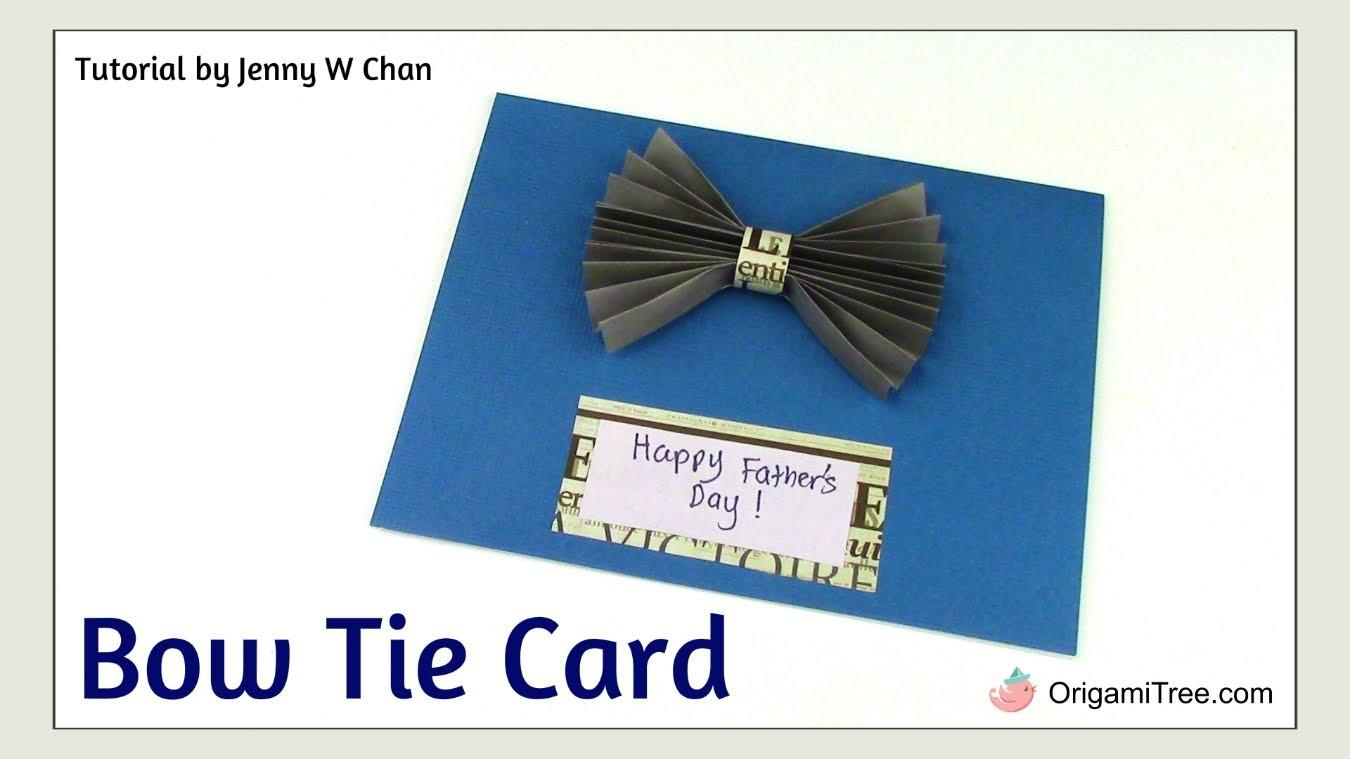 Diy Father Day Crafts Handmade Card Bow Tie