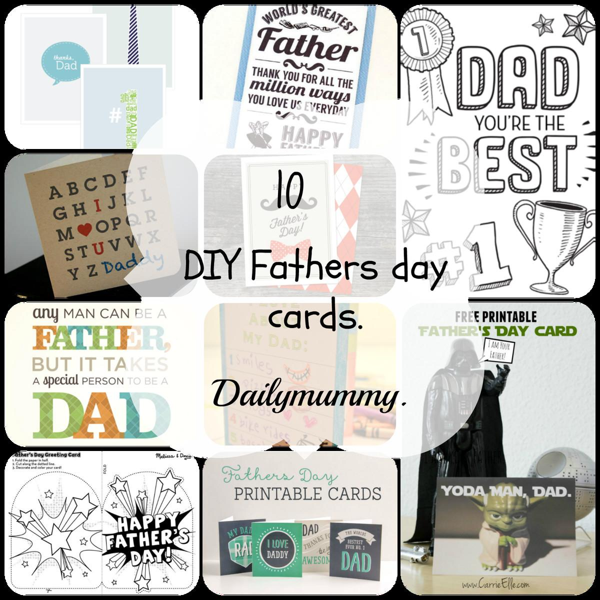Diy Fathers Day Printable Cards Daily Mummy