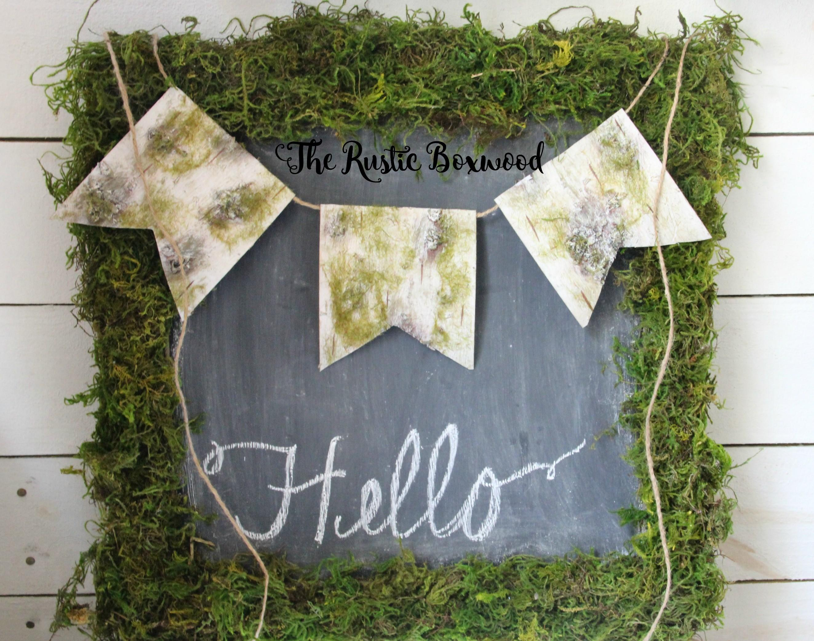 Diy Faux Birch Wood Banner