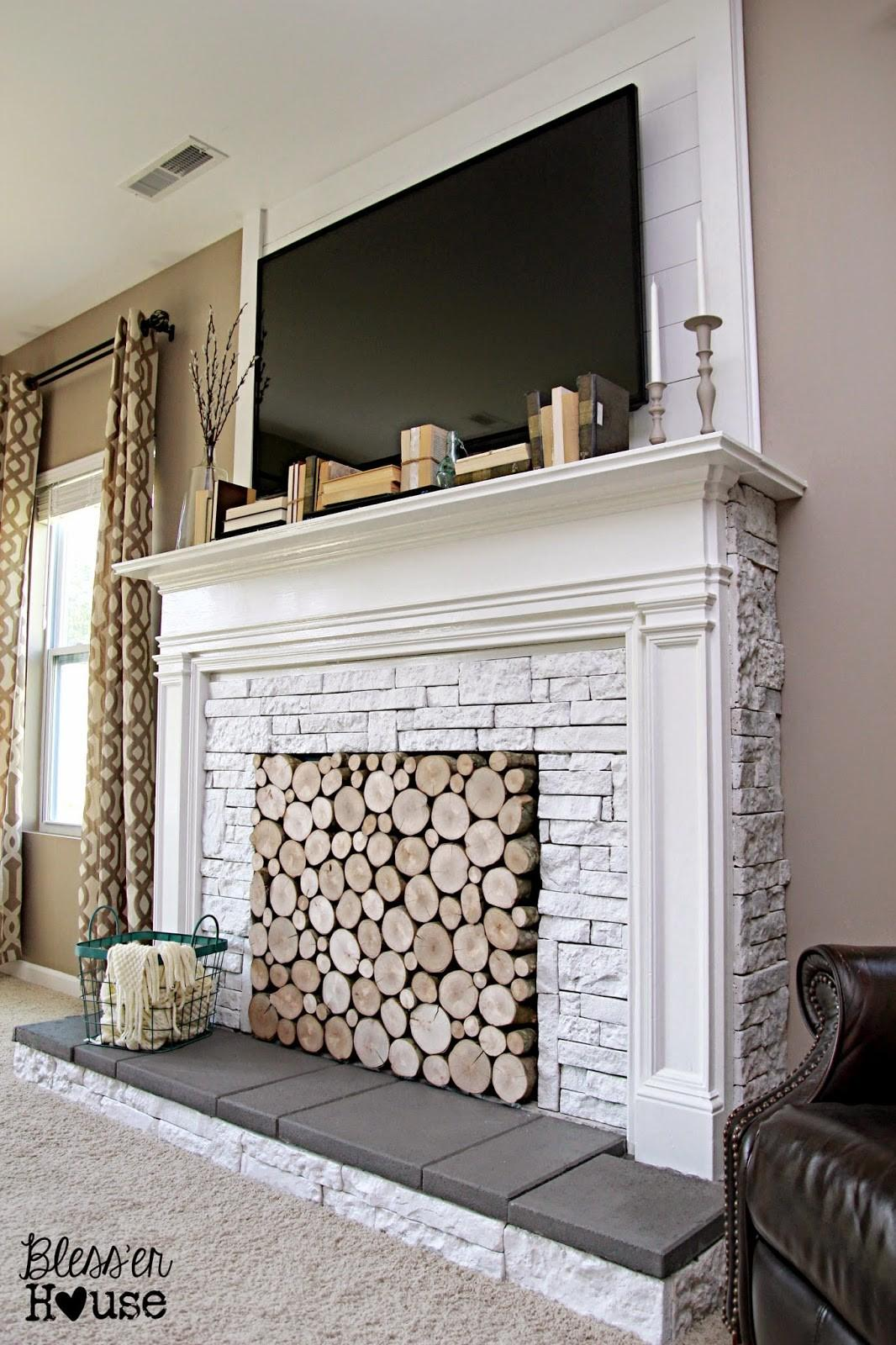 Diy Faux Fireplace Under 600 Big Reveal Bless