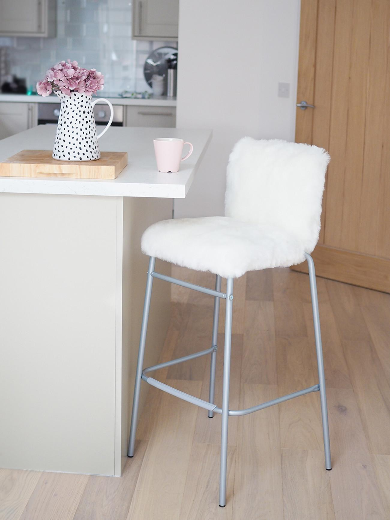 Diy Faux Fur Bar Stool Tutorial Hack Bang Style