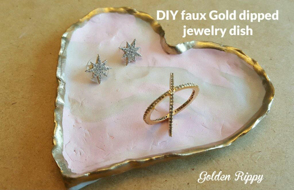 Diy Faux Gold Dipped Jewelry Dish 1st Rocksbox