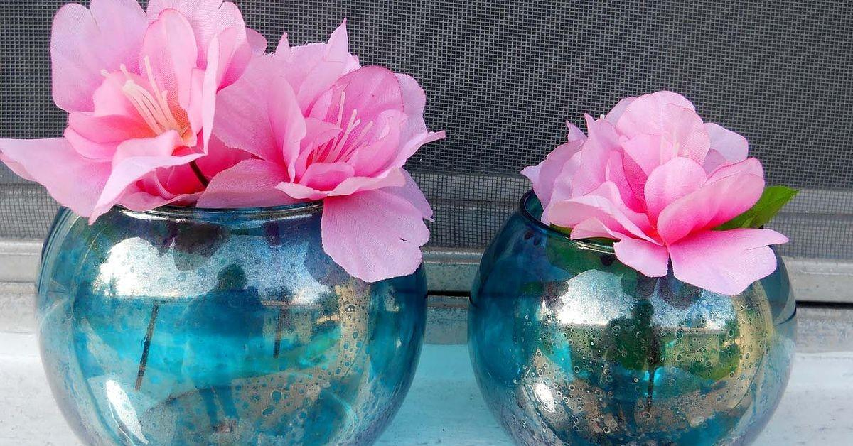 Diy Faux Mercury Glass Any Color Hometalk