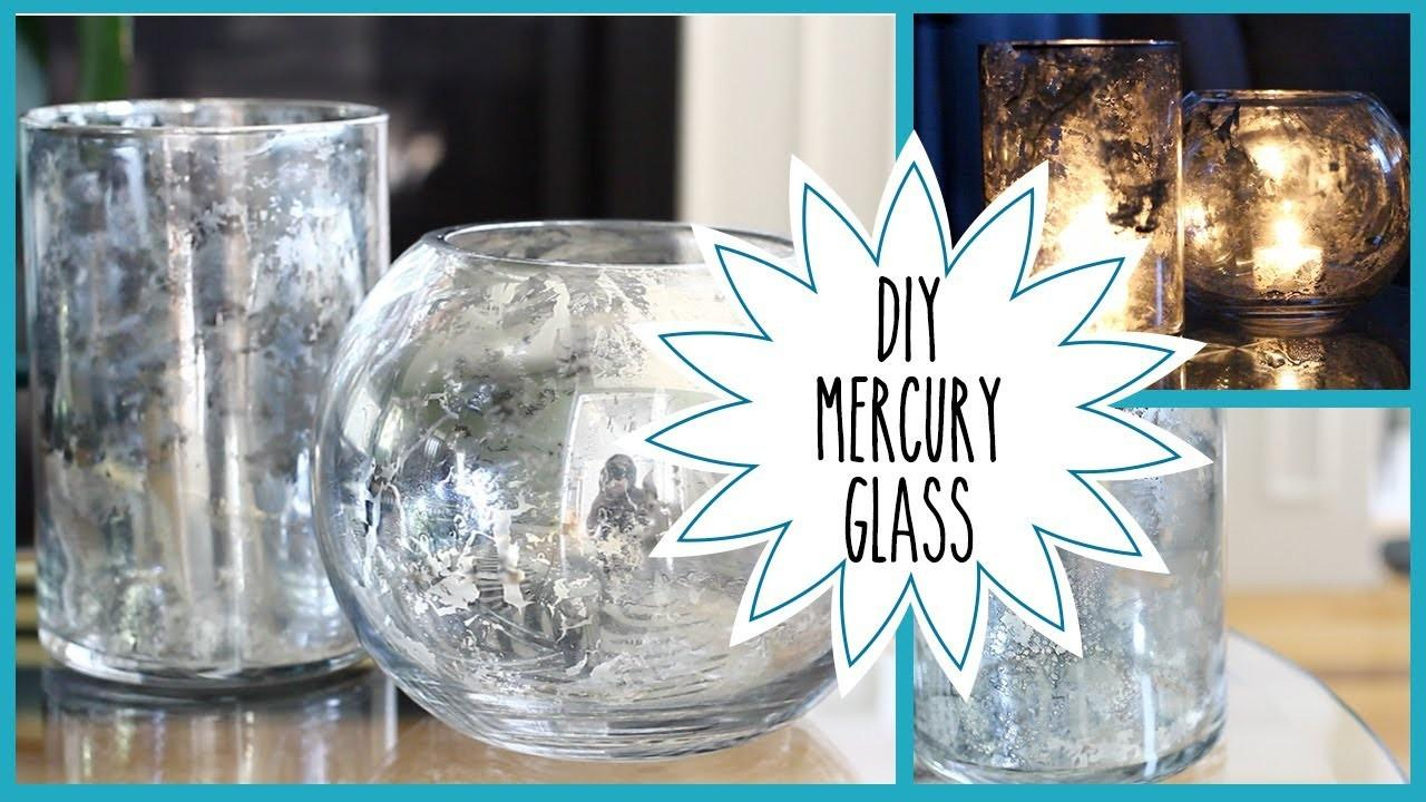 Diy Faux Mercury Glass Pottery Barn Inspired