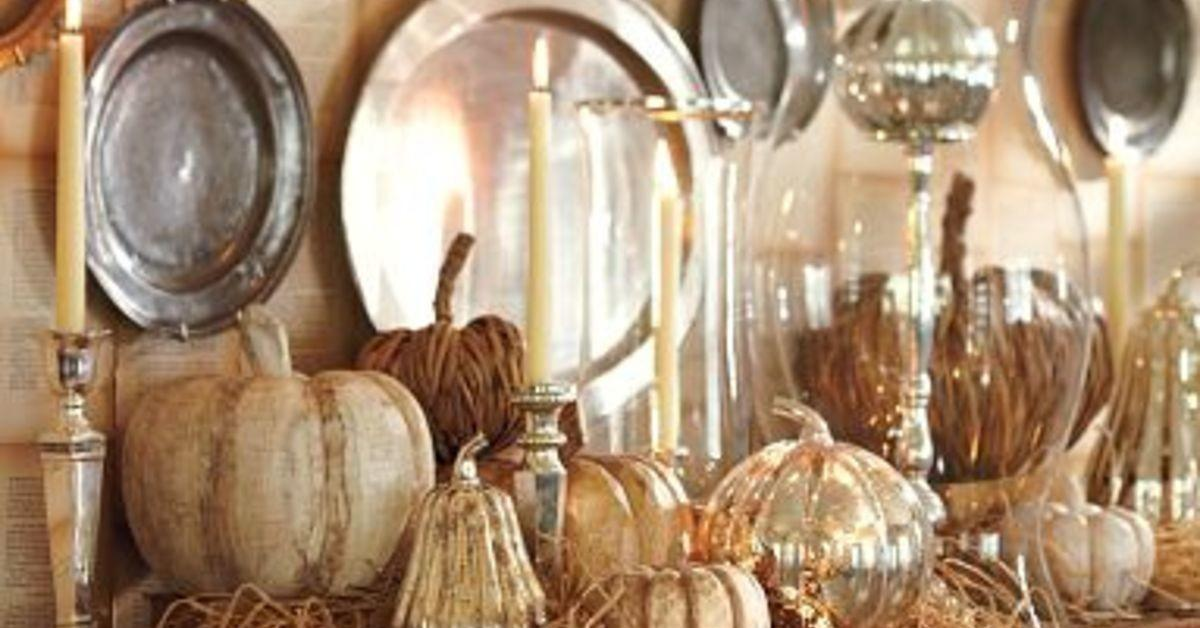 Diy Faux Mercury Glass Pumpkin Pottery Barn Knock